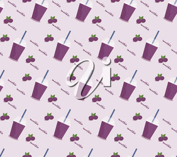 Royalty Free Clipart Image of a Smoothie Pattern