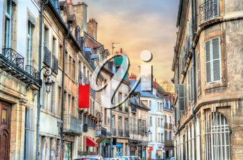 Traditional buildings in the Old Town of Dijon - Burgundy, France