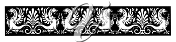 Royalty Free Clipart Image of a Winged Creatures on a Banner