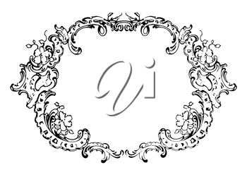 Royalty Free Clipart Image of an Ornate Frame