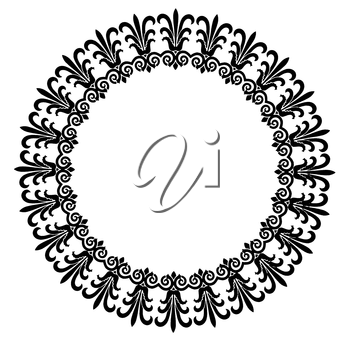 Royalty Free Clipart Image of a Circular Frame