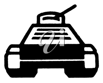 Royalty Free Clipart Image of a Tank