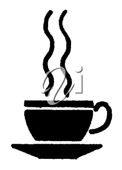 Royalty Free Clipart Image of a Cup of Steaming Tea