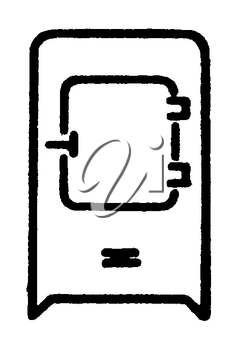 Royalty Free Clipart Image of a Fridge