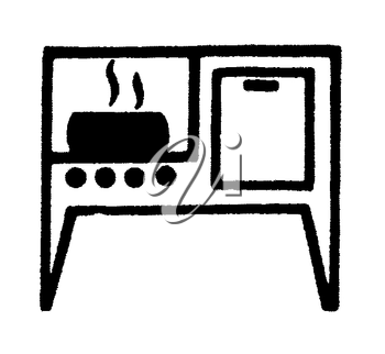 Royalty Free Clipart Image of an Oven
