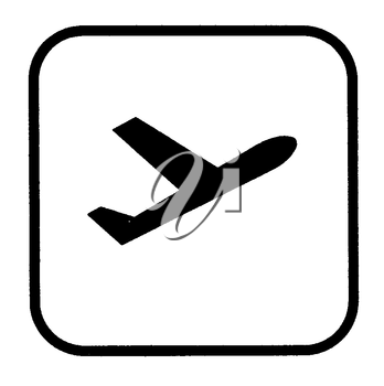 Royalty Free Clipart Image of an Airplane Sign