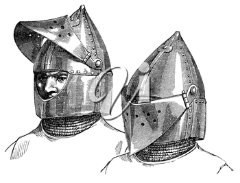 Royalty Free Clipart Image of Helmets