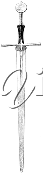 Royalty Free Clipart Image of a Sword