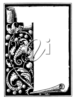 Royalty Free Clipart Image of a Scroll