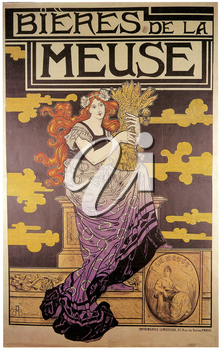 Royalty Free Clipart Image of Beers of the Muse Theatre Poster