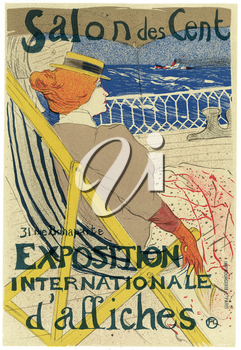 Royalty Free Clipart Image of an old Advertisement for the poster Exposition