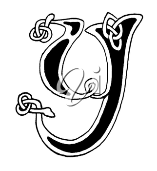 Royalty Free Clipart Image of a Letter Y