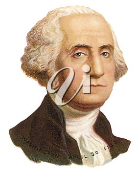 Royalty Free Clipart Image of George Washington