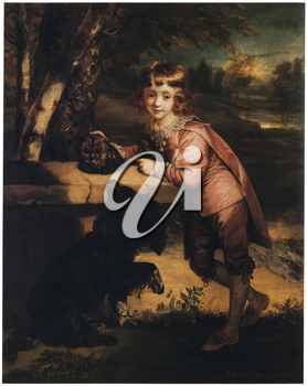 Royalty Free Clipart Image of an Aristocrat Boy