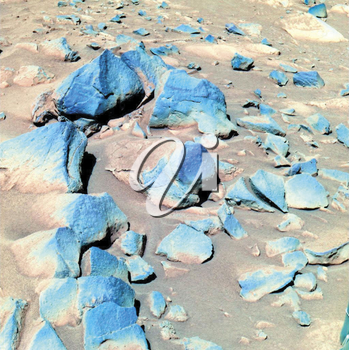 Royalty Free Photo of Rocks on Mars