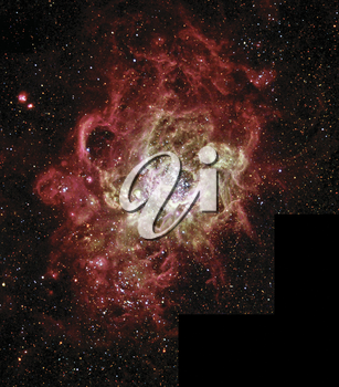 Royalty Free Photo of a Firestorm of star birth seen in a Nearby Galaxy