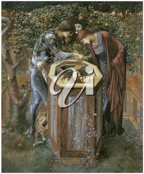 Royalty Free Clipart Image of The Baleful Head by Edward Burne-Jones