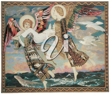 Royalty Free Clipart Image of St. Bride by John Duncan