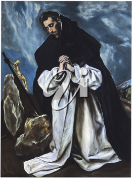 Royalty Free Clipart Image of Saint Dominic in Prayer by El Greco