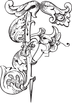 Royalty Free Clipart Image of an F