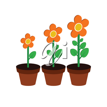 Plant growth stages symbol. Flat Isometric Icon or Logo. 3D Style Pictogram for Web Design, UI, Mobile App, Infographic. Vector Illustration on white background.