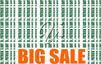 St. Patrick's Day text bar code. Big sale text. Vector illustration