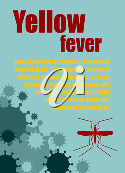 Modern vector brochure, report or flyer design template. Medical industry, biotechnology and biochemistry. Scientific medical designs.  Mosquito transmission diseases relative theme. Yellow fever