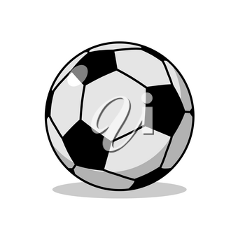Soccer ball isolated. Sports accessories for football. Scope for sports game