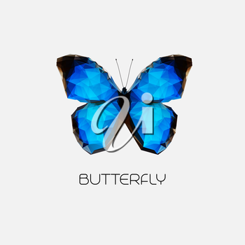 Vector Abstract butterfly symbol modern trendy design