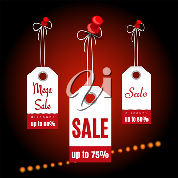 Sale banners design with shining elements vector illustration