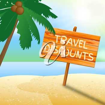 Travel Discounts Meaning Promo Trip 3d Illustration