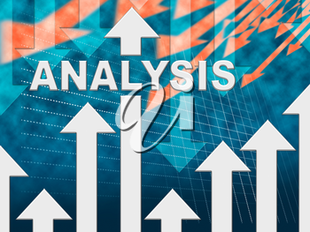 Analysis Graph Showing Data Analytics And Research
