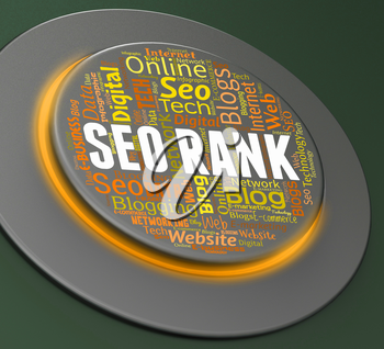 Seo Rank Showing Push Button And Online
