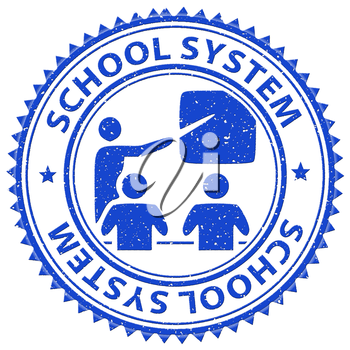 School System Representing Stamp College And Systems