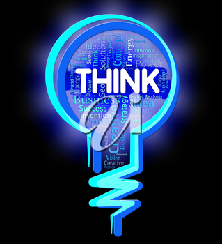 Think Lightbulb Showing Thinking Consideration And Plan