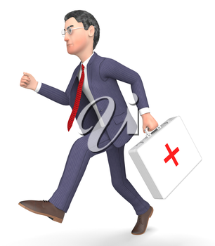 First Aid Indicating Business Person And Entrepreneur 3d Rendering