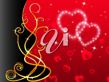 Red Hearts Background Meaning Love Dear And Floral
