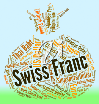 Swiss Franc Representing Foreign Currency And Banknotes