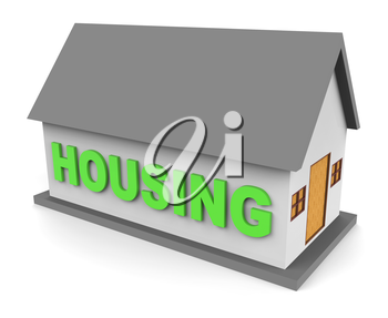 Housing House Representing Real Estate And Houses 3d Rendering