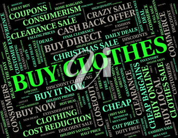 Buy Clothes Representing Sweaters Buying And Pants