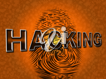 Internet Hacking Showing World Wide Web And Vulnerable Network