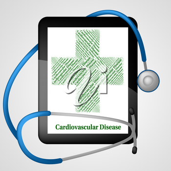 Cardiovascular Disease Representing Circulatory System And Ailments