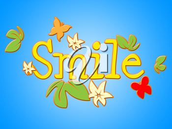 Smile Flowers Indicating Smiling Positivity And Positive