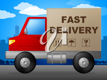 Fast Delivery Representing High Speed And Rush