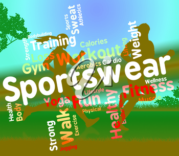Sportswear Word Representing Text Sporting And Apparel