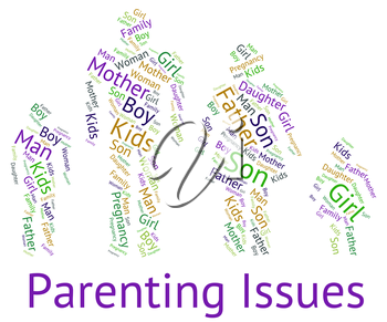 Parenting Issues Meaning Mother And Baby And Mother And Baby