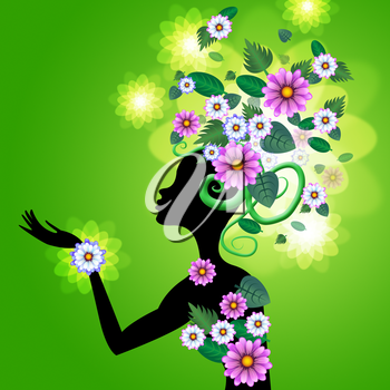 Flowers Hair Meaning Petals Lady And Hairstyle