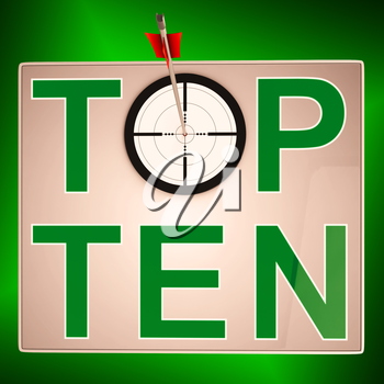 Top Ten Target Meaning Successful Achievement Of Ranking
