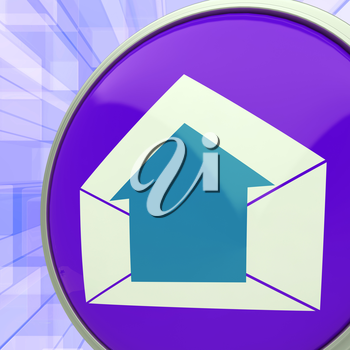 E-mail Symbol Showing Message Outbox Envelope Communication
