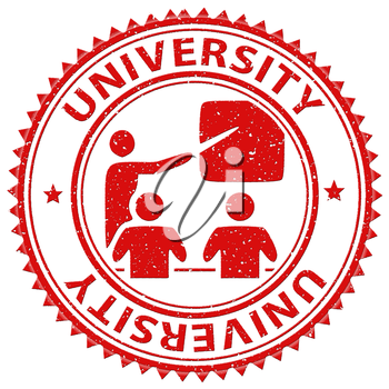 University Stamp Meaning Educational Establishment And Academy